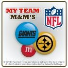 This Vanlentine's Day, rather than getting a heart-shaped box of candy for you husband/boyfriend, order him M&M's with his favorite NFL team logo/color from My M&M's!