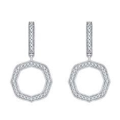#Mia #Carizza 14K White Gold 1/3 Ct Diamond Lecirque Fashion Earrings. (#LCEA0085-44W-U)