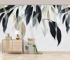 White Hibiscus Flowers Wallpaper Self Adhesive Wallpaper
