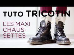 Tuto tricotin : les maxi-chaussettes - YouTube