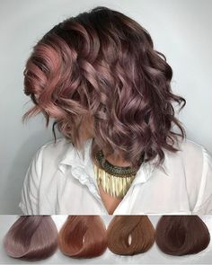 Choco-Mauve (and the waves)  They're swatches from @evohair Fabulouso Pro. I recreated all the tones using Pravana Vivids ☺️