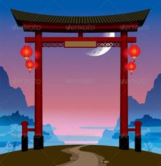 Chinese Gate  #graphicriver