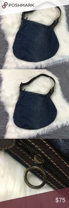 Denim & Leather Fendi Shoulder Bag Authentic, very lightly used. No real signs of wear. Perfect for everyday, very boho chic vibe. No trades please Fendi Bags Shoulder Bags