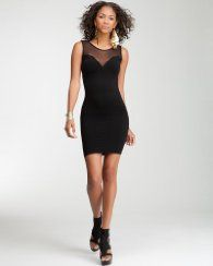 Vegas dress Plunging Mesh Bodycon Tank Dress