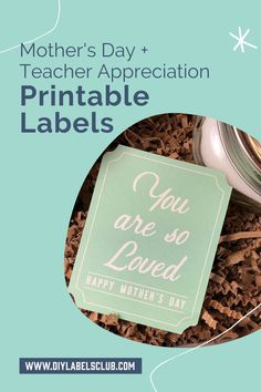 Sibyl Smith of DIY Labels Club has the best print and cut labels for your DIY gifts this Mother's Day and Teacher Appreciation Day! Follow the simple directions on the blog to print these PDFs then attach the labels to their gifts. If you're needing gift ideas you can find those on the blog too! Diy Holiday Gifts, Teacher Christmas Gifts, Unique Christmas Gifts, Holiday Crafts, Diy Gifts For Mothers, Gift Labels, Printable Labels, Teacher Appreciation Gifts, Gift Cards
