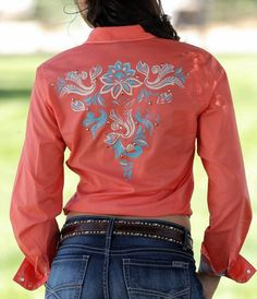 CRUEL GIRL RODEO Western Barrel BRIGHT CORAL Bling SHIRT COWGIRL NWT MEDIUM #CruelGirl #Western