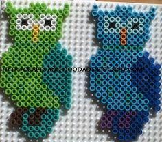 Owls (square board)- hama perler beads