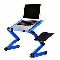 Alloy Laptop Table Simple Portable Folding Computer Desk Adjustable Laptop Desk With Mouse Pad Cooling Fans