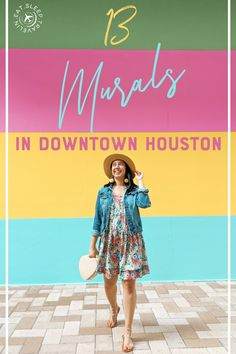 Click to read our blog post for addresses, maps, and tips on visiting these Houston murals.   Things to do in Houston. Instagrammable spots in Houston. Houston Murals, Houston Tx, Houston Locations, Grad Pics, H Town, Aesthetic Pastel Wallpaper, Nice Tops, Maps, Things To Do