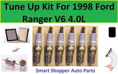 Tune Up Kit Cabin Air Oil Fuel Filters Plugs for Nissan Frontier V6; 4.0L 2005-2006