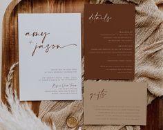 Lavender Wedding Invitations, Minimalist Wedding Invitations, Wedding Invitation Templates, Printable Invitations, Invitation Suite, Invites, Casual Wedding Invitations, Minimalist Invitation, Wedding Invitation Inspiration
