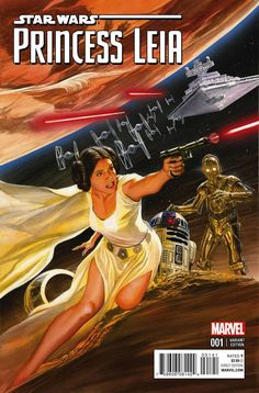 Stunning PRINCESS LEIA #1 Comic Covers By Alex Ross