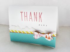 Thank You by LindseyM at @Studio_Calico Cute card! Love the bow!