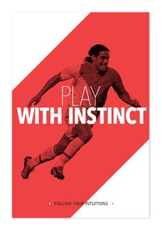 Play like a football master by E S, via Behance