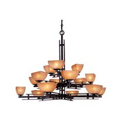 Lineage Fifteen Light Chandelier Minka Lavery Glass Shade Chandeliers Ceiling Lighting
