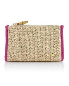 Raffia Small Zip Bag by Stephanie Johnson