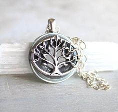 Your place to buy and sell all things handmade Tree Of Life Necklace, Boho Necklace, Gray Tree, Signature Look, Organza Gift Bags, Wiccan, Leather Cord, Sterling Silver Chains, Mythology