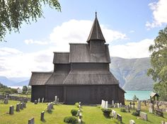Urnes stave church in Luster, Norway, listed as a world Heritage Site by UNESCO