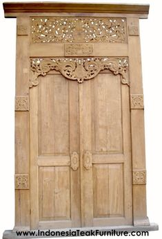 HANDCARVED DOORS FROM JAVA INDONESIA