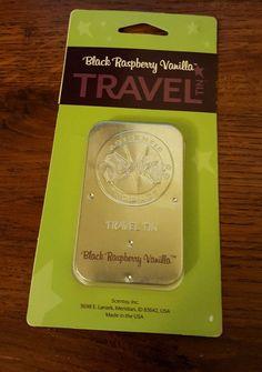 One (1) NIP Scentsy Travel Tin - Black Raspberry Vanilla #Scentsy