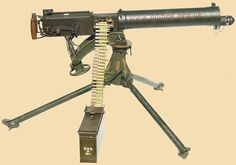 The Vickers Medium Machine Gun    Introduced in 1912, the Vickers gun was the British Army's mainstay of defensive rapid fire throughout World War One.     With an outstanding reputation for reliability, the Vickers proved itself in many different roles, from use in aircraft to armoured cars.     Usually mounted on a heavy but stable tripod, the Vickers was very much a defensive weapon intended to be dug in.