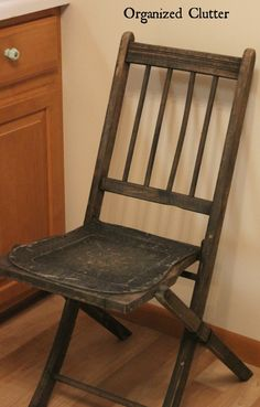 A Vintage Folding Chair Upcycle with OLD SIGN STENCILS