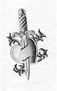 Heart With Knife Tattoo  Group Picture Image By Tag