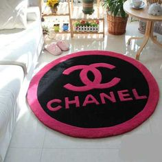 シャネルラグカーペット マット 円形 絨毯 ブランド 防ダニ防臭 可愛い オシャレ ラグマット Rugs On Carpet, Chanel, Kids Rugs, Home Decor, Decoration Home, Kid Friendly Rugs, Room Decor, Home Interior Design, Home Decoration