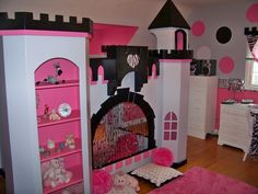 This is a set of bunk beds that has been converted into a DREAM COME TRUE <3