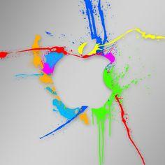 Apple Logo Paint Splash iPad Wallpaper HD