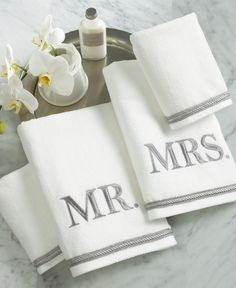 Avanti Bath Towels, Mr. & Mrs. 4 Piece Towel Set