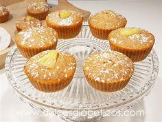 Magdalenas de piña sin azúcar   Dulces Diabéticos Cupcakes, Sin Gluten, Breakfast, Food, Healthy Cupcakes, Vegan Muffins, Clean Eating Sweets, Sugar Free Desserts, Finger Foods