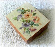 Elegante tè scatola contenitore di monili di CarmenHandCrafts