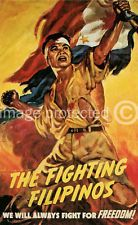 Fighting Filipinos US Military Vintage Poster for sale online Philippines Tattoo, Philippine Art, Philippines Culture, Filipino Culture, Filipino Tattoos, Black Light Posters, Old Stamps, Animal Tattoos, Military History