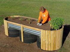 Image result for raised garden beds metal standing