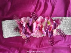 Cinturón de flores Plata Flor y Plumas