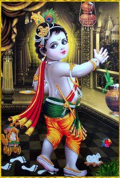 little krishna images Krishna Lila, Little Krishna, Krishna Hindu, Cute Krishna, Lord Krishna Images, Radha Krishna Photo, Radha Krishna Pictures, Krishna Photos, Krishna Radha