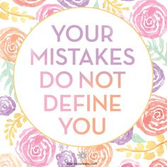 Friendly reminder that your mistakes do not define you. Stay motivated and move on, you will achieve your goals with hard work! Stay inspired, love bloom daily planners!    #inspirationalquote #motivation #bloomdailyplanners Planner Layout, Meal Planner, Monthly Celebration, Optimism Quotes, Note To Self, True Words, How To Stay Motivated, Love And Light, Planner Stickers
