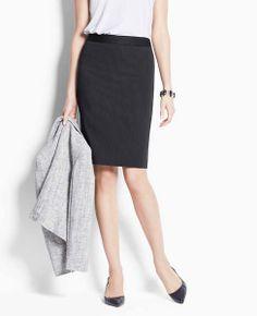 af100bd77b620b Pinstripe Pencil Skirt Young Professional, Ann Taylor, Midi Skirt, Petite,  Pencil,
