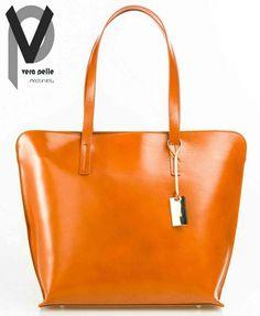 Vera Pelle Shopper 44cm Leder Handtasche Henkeltasche Grau Grün Cognac Apropos