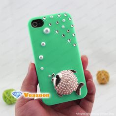 iphone 4 case green iphone5 case green cute iphone4 by Veasoon, $18.99