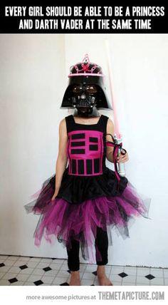 Princess Vader.  Toda niña puede ser una princesa y Darth Vader al mismo tiempo.