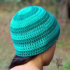 Ravelry: Seamless Double Crochet Hat pattern by Yay For Yarn Patterns Crochet Cap, Double Crochet, Crochet Hooks, Free Crochet, Knitting Patterns, Crochet Patterns, Crochet Ideas, Popular Crochet, Moss Stitch