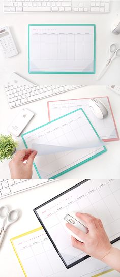 Keep your desk & schedule organized with this stylish Leather Weekly Schedule Notepad! It comes with 28 pages of weekly schedule paper & has a clear PVC cover over a supple leather pad so it can be used as a mousepad too! Write your plans on dateless schedule pages & put them under the clear cover to see your schedule & notes at a glance whenever you need. You can add photos or memos to personalize it too! Whether you're at school, work, or home, stay on task & on trend with this useful…