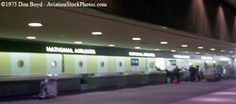 1973 - the National Airlines ticket counter at Tampa International ...