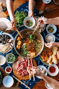 Enjoying Chinese Hot Pot at Home