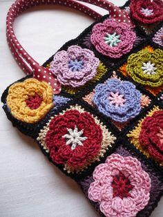 Crochet Home, Crochet Granny, Crochet Stitches, Free Crochet, Knit Crochet, Crochet Patterns, Crotchet Bags, Cecile, Crochet Purses