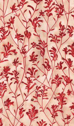 Australian Flora Quilting Fabrics by Natalie Ryan - Kangaroo Paw Textile Patterns, Textile Prints, Textile Design, Flower Patterns, Fabric Design, Pattern Design, Print Patterns, Fabric Wallpaper, Pattern Wallpaper
