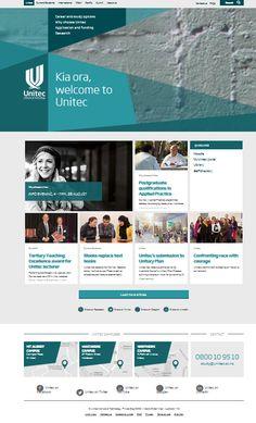 Unitec Website by ChromeToaster