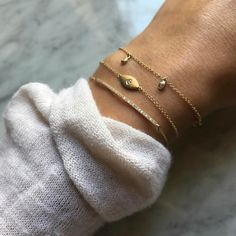 There is a dainty feel when you wear a little gold and scrunchy sleeves.